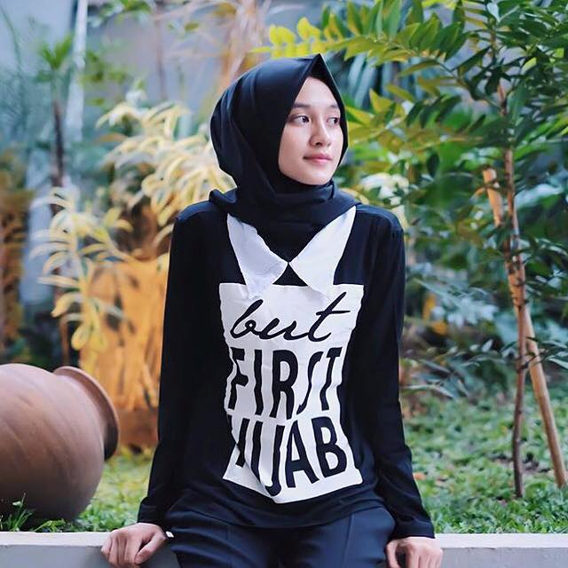 First hijab black