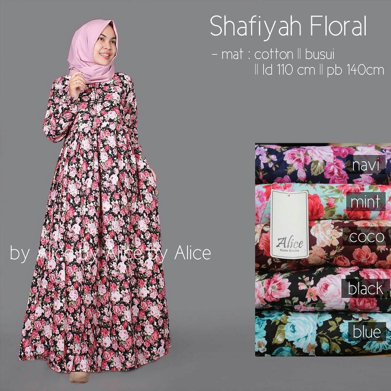 SUPPLIER HIJAB : SHAFIYAH FLORAL BY ALICE