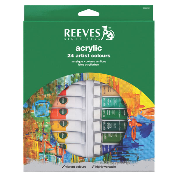 Reeves Acrylic Colour Set 24