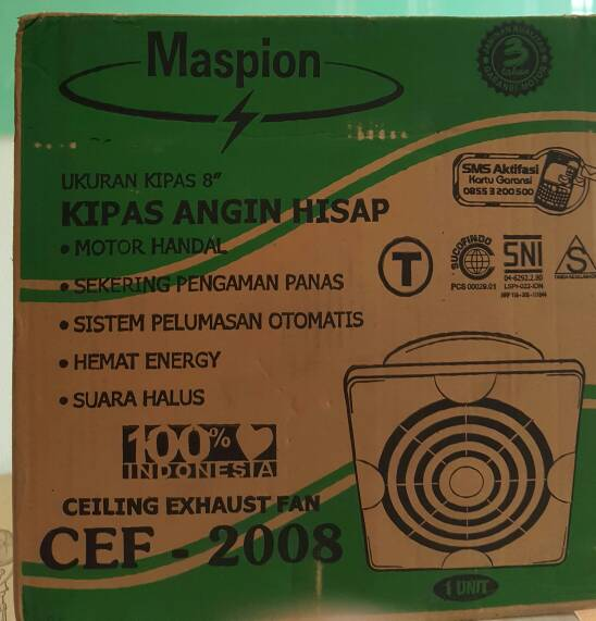 Maspion - Exhaust Fan CEF 2008 ( 8