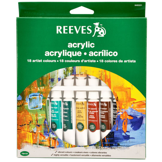 Reeves Acrylic Colour Set 18