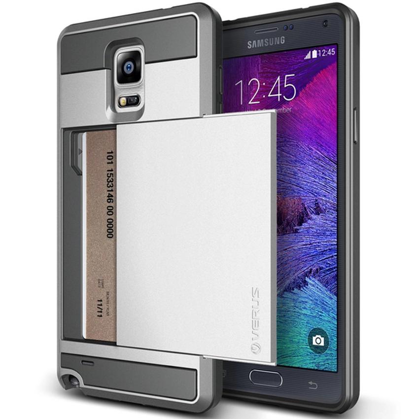 VERUS Galaxy Note 4 CASE Damda Slide Light Silver