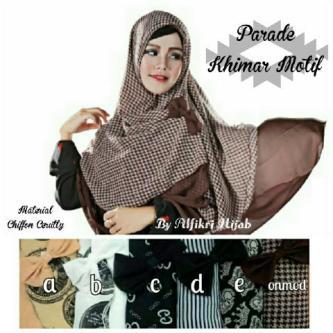 hijab jilbab syar'i KHIMAR DHEA motip