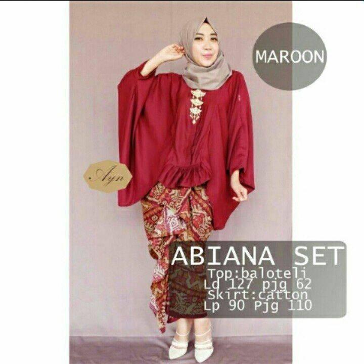 abiana set / rok lilit / setelan hijab / dress kondangan / baju pesta