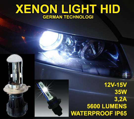 HID XENON LIGHT HEADLAMP JAZZ RS (Garansi tukar baru)