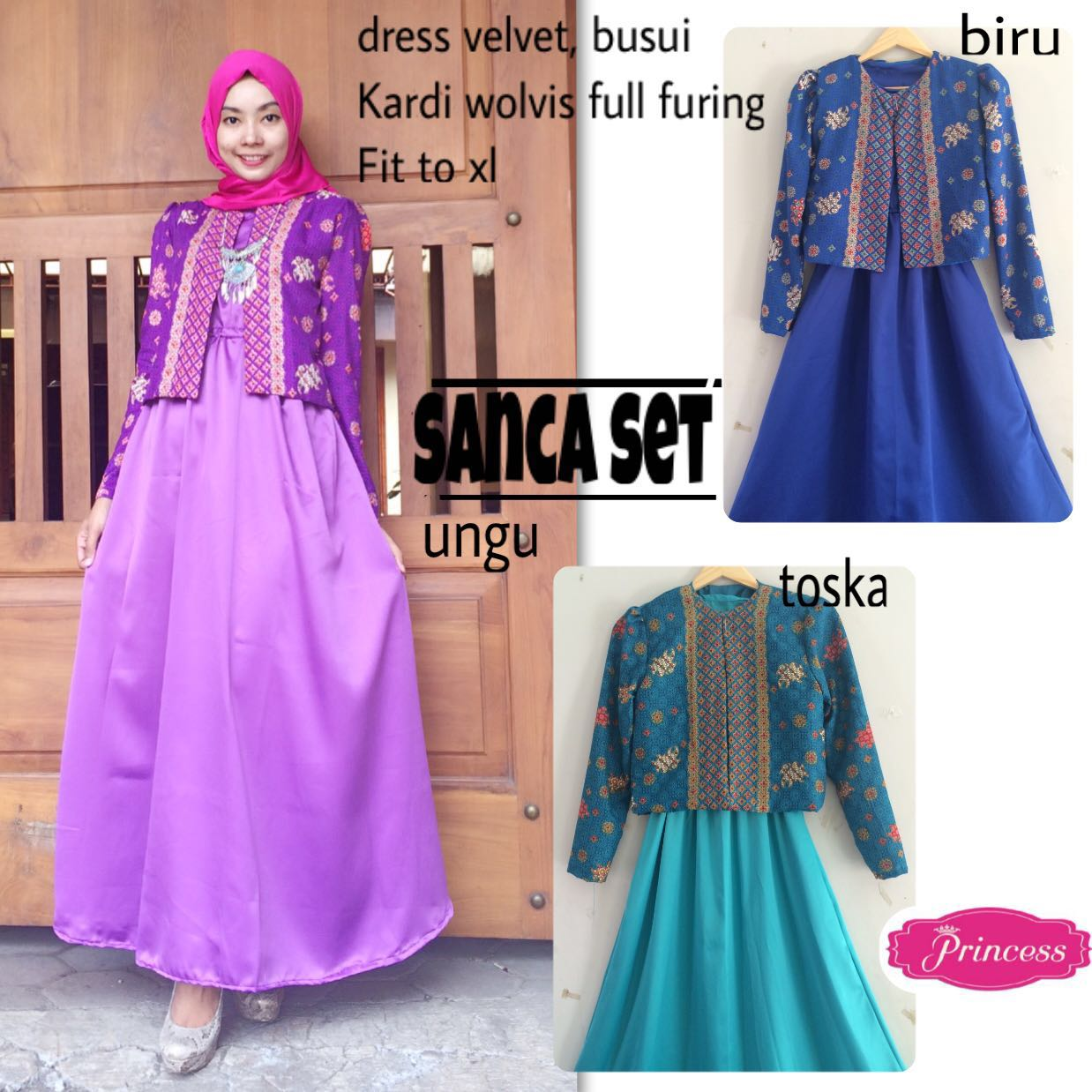 SUPPLIER HIJAB REALPICT : sanca set by princes