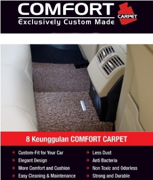 KARPET COMFORT HONDA JAZZ deluxe (anti bakteri) exclusive