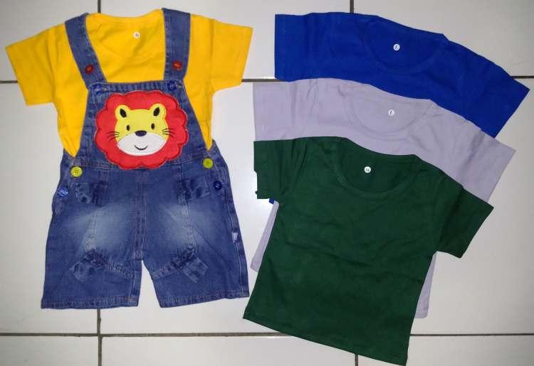STKDL171 - Setelan Anak Jumpsuit Jeans Lion Murah