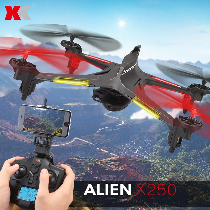 XK Alien X250-B 2.4Ghz WiFi FPV With 2.0MP HD Camera 4CH 6 Axis