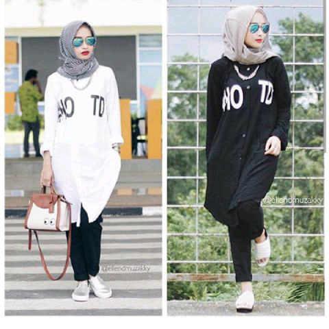 hotd katun L  /blouse/tunik/atasan/top muslim/hijab
