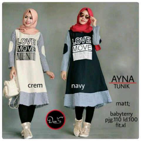 ayna tunic katun  /blouse/tunik/atasan/top muslim/hijab
