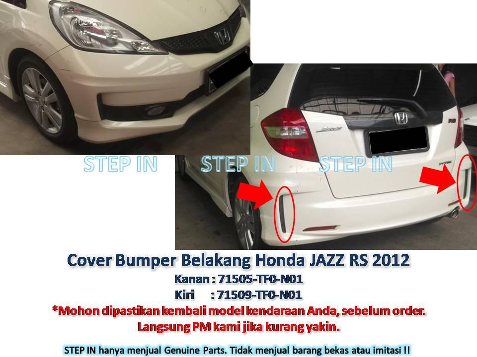 COVER BUMPER BELAKANG Berdiri Kanan/Kiri Honda JAZZ RS 2012 Bemper