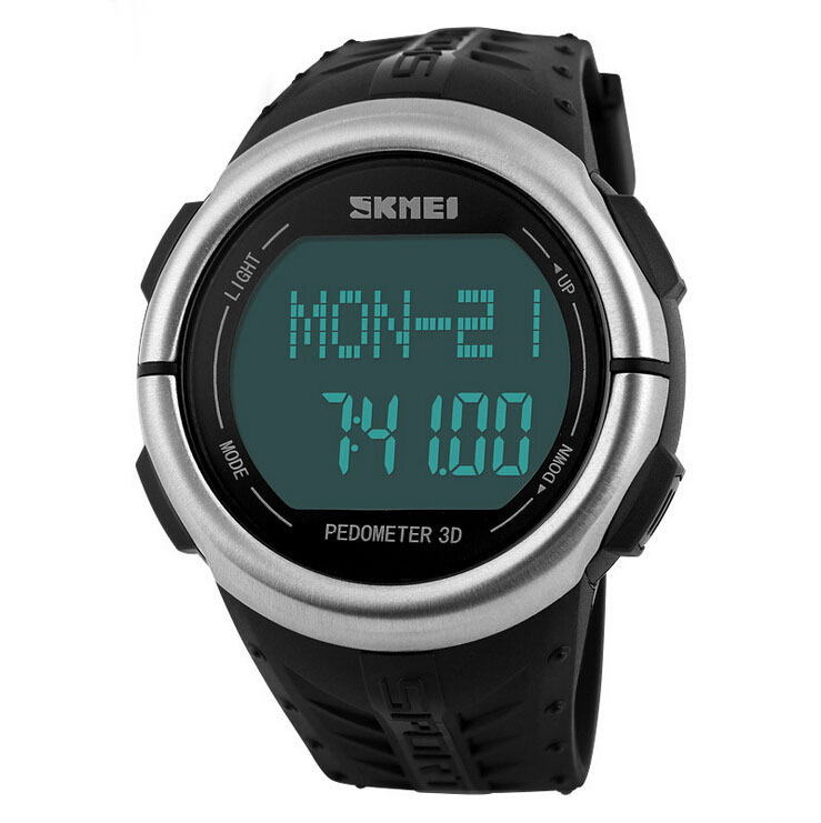 SKMEI Watch Pedometer Heart Rate (Detak Jantung) Water Resist - DG1068