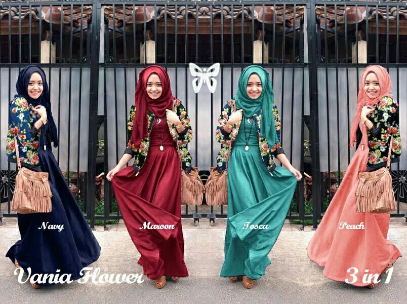 hijab vania flower sis