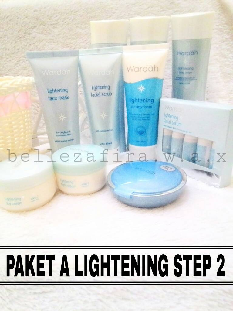Jual Paket Lightening Series Wardah Step 2 Pencuci Creamy Foam Face Mask Bellezafirawax Tokopedia