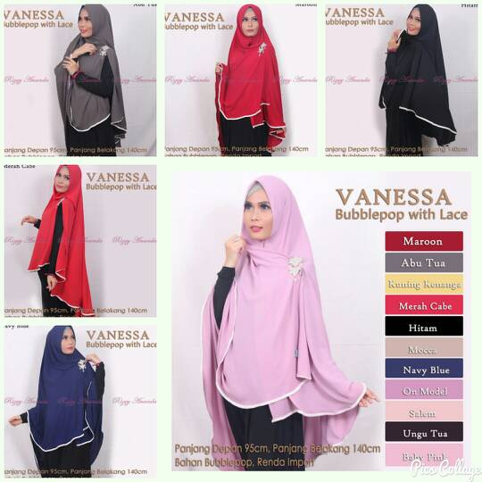 Hijab Khimar Vanessa ori Rizqy ananda