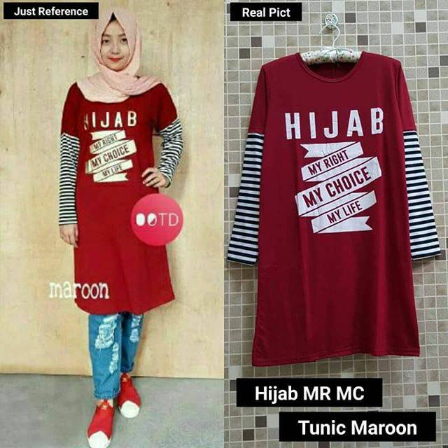 Grosir Baju Murah / Busana Muslim Terbaru / Hijab MRMC Tunic Red