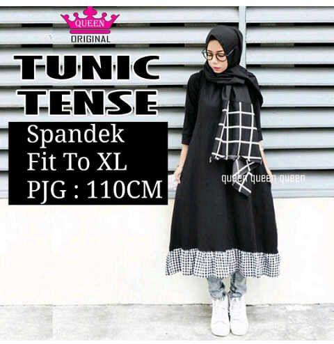 Tense Tunic  / baju muslim / tunik syari / stelen hijab