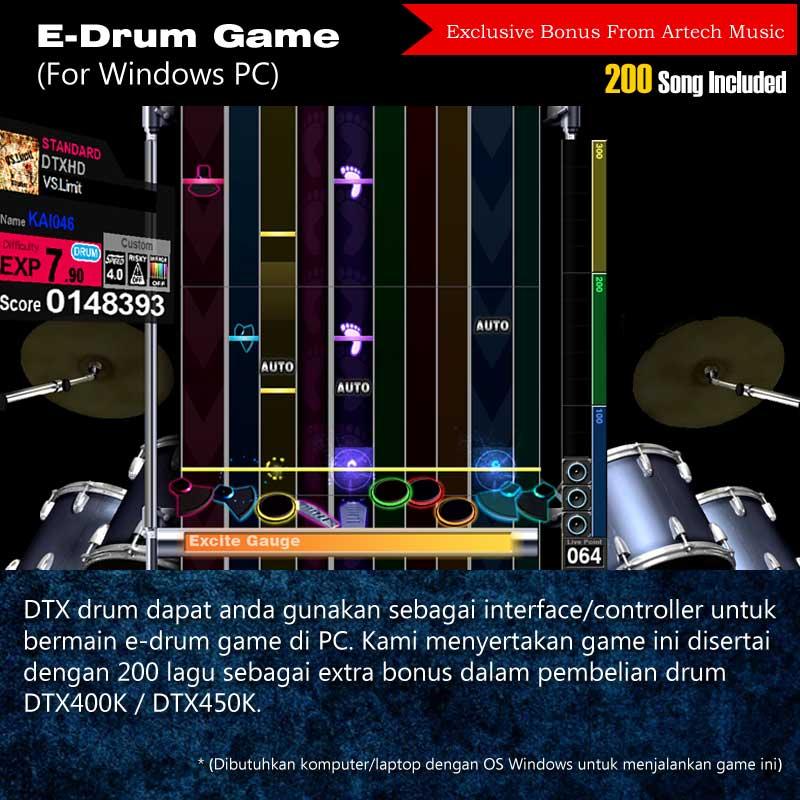 Jual Drum Elektrik Yamaha DTX400 DTX400K DTX 400 DTX
