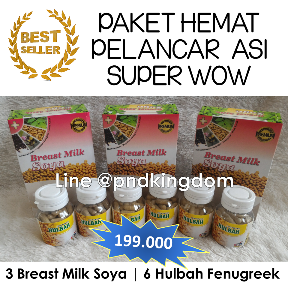 Fenugreek Hulbah Pelancar Asi Penambah Booster Jual Paket Super Wow 3 Breast Milk Soya 6 Pnd Kingdom Tokopedia