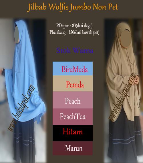 Jilbab wolfis/jilbab syria wolvis/hijab jumbo non pet