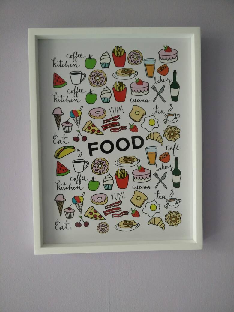 Hiasan Dinding Untuk Dapur Kitchen Set Wall Decor Frame Kayu Food Blanja