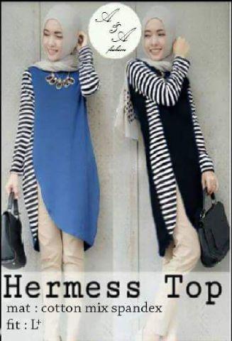 hermess top mat katun mix spandek f (blouse/atasan/top/hijab)