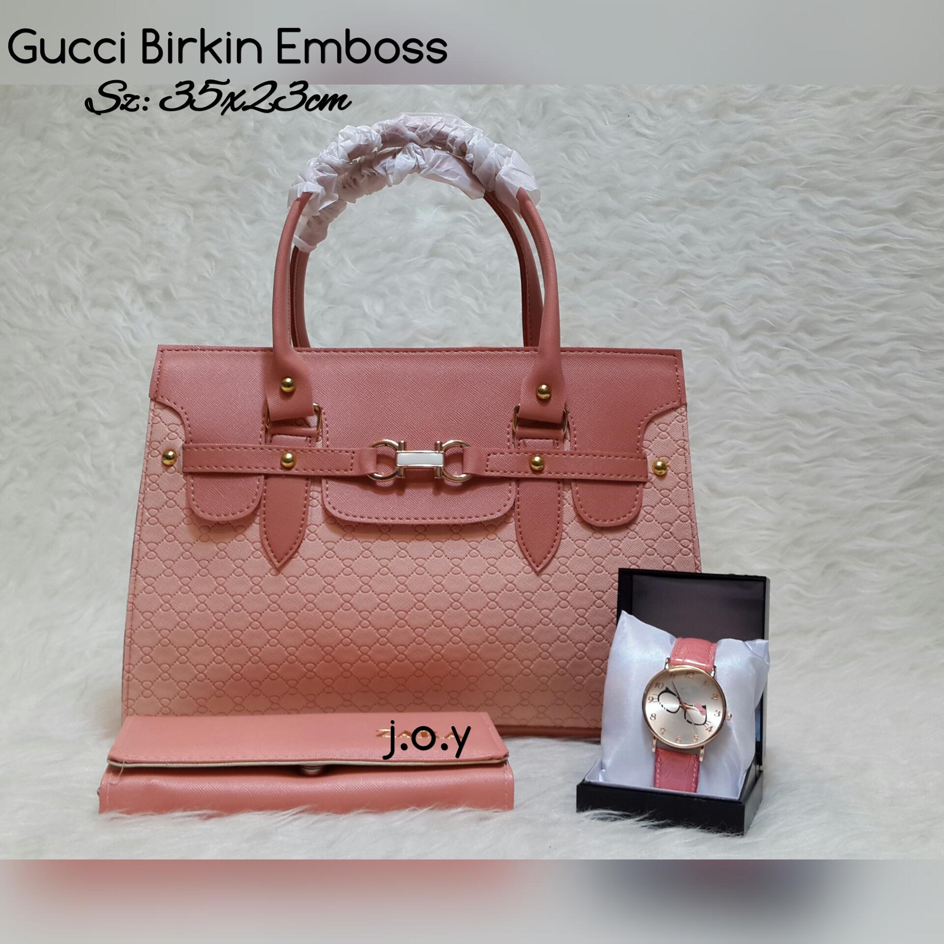 Jual Tas Murah Lokal Paketan Paket 3in1 Gucci Leather Hobo Selempang  Cewek Tangan Cantik Blanja