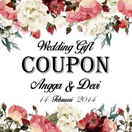 Personalised Wedding Gifts Voucher : Jual Kupon Souvenir Pernikahan (Wedding Gift Coupon) Custom Nama ...