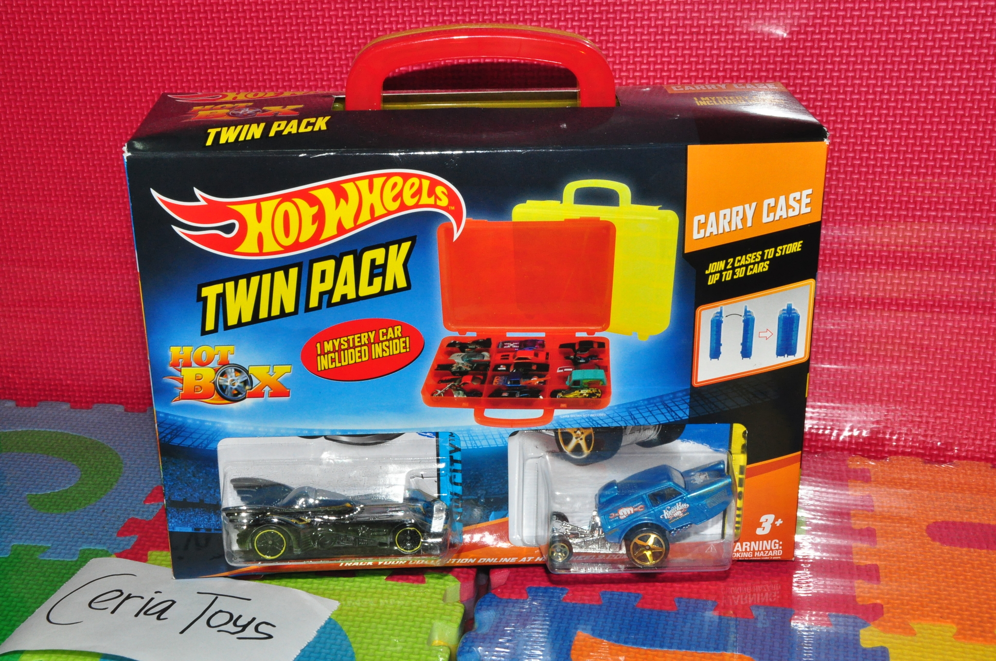 Jual CARRY CASE BOX HOT WHEELS TWIN PACK (Including 3 pc Hotwheels) - Toko