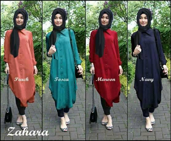 Hijab Zahara Polos Set 3in1