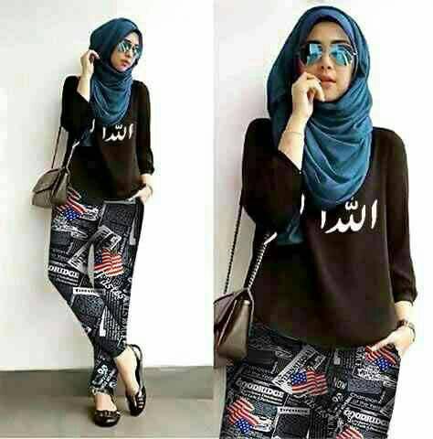 Hijab Arabic Flag Set 3in1