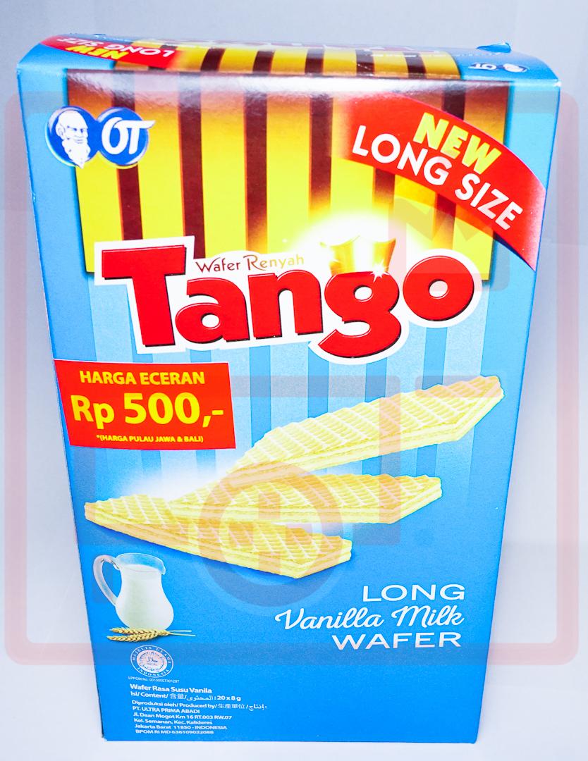 Jual Tango Long Vanilla Milk Wafer 20 X 8g Gerobak Snacking Tokopedia