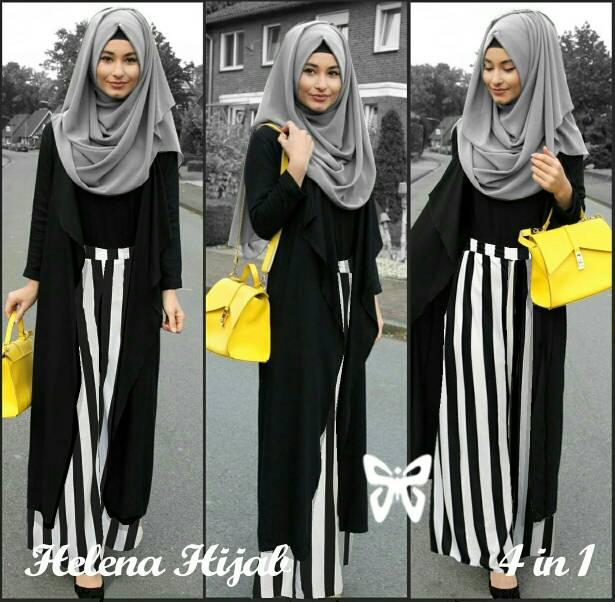 helena hijab set 3in1 / baju muslim murah / busana muslim