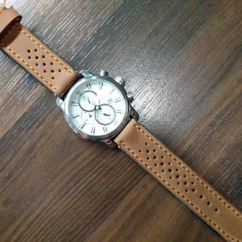 tali jam tangan kulit (handmade leather strap watch)