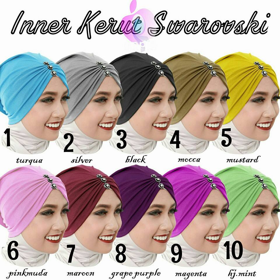 Inner Kerut Swarovski by Apple Hijab