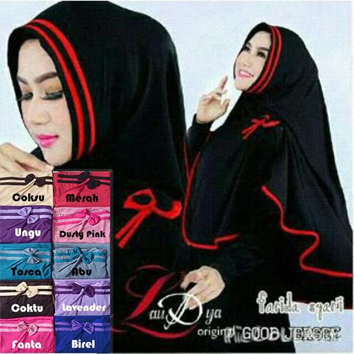 hijab syar'i, Jilbab syari, jilbab gaul, jilbab, Khimar Syar'i Farida