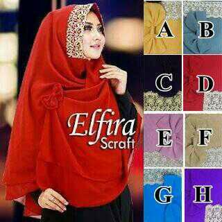 hijab, jilbab modern, hijab grosir, hijab wisuda, Jilbab Khimar Elfira