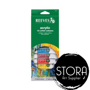 REEVES ACRYLIC SET 12 COLOUR