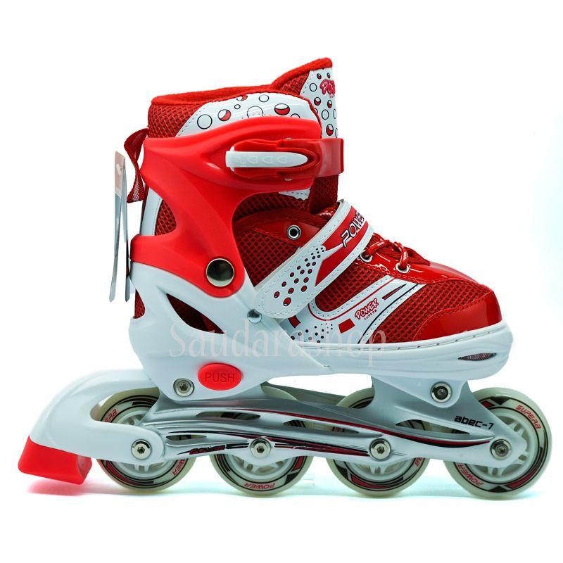 Jual Sepatu Roda Anak POWER SUPER MERAH INLINE SKATE POWER SOL JAHIT  KINGTOYS . 920ee67284