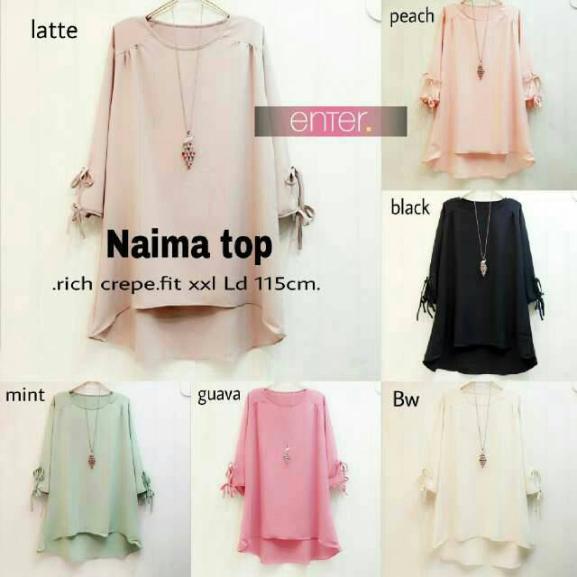 NAIMA TOP WOLVIS POLOS HIJAB SOLO FREE CUSTOM SIZE