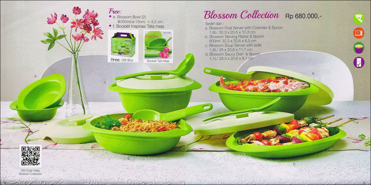 Tupperware Blossom Collection Hijau