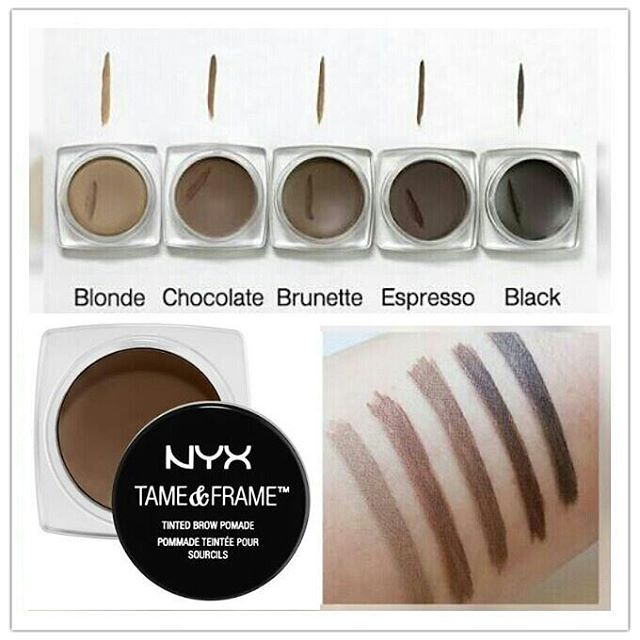 nyx makeup eyebrows. jual nyx tame \u0026 frame brow pomade eye alis - claus store | tokopedia nyx makeup eyebrows