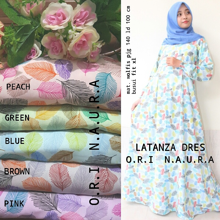 SUPPLIER HIJAB REALPICT : latanza dres by naura