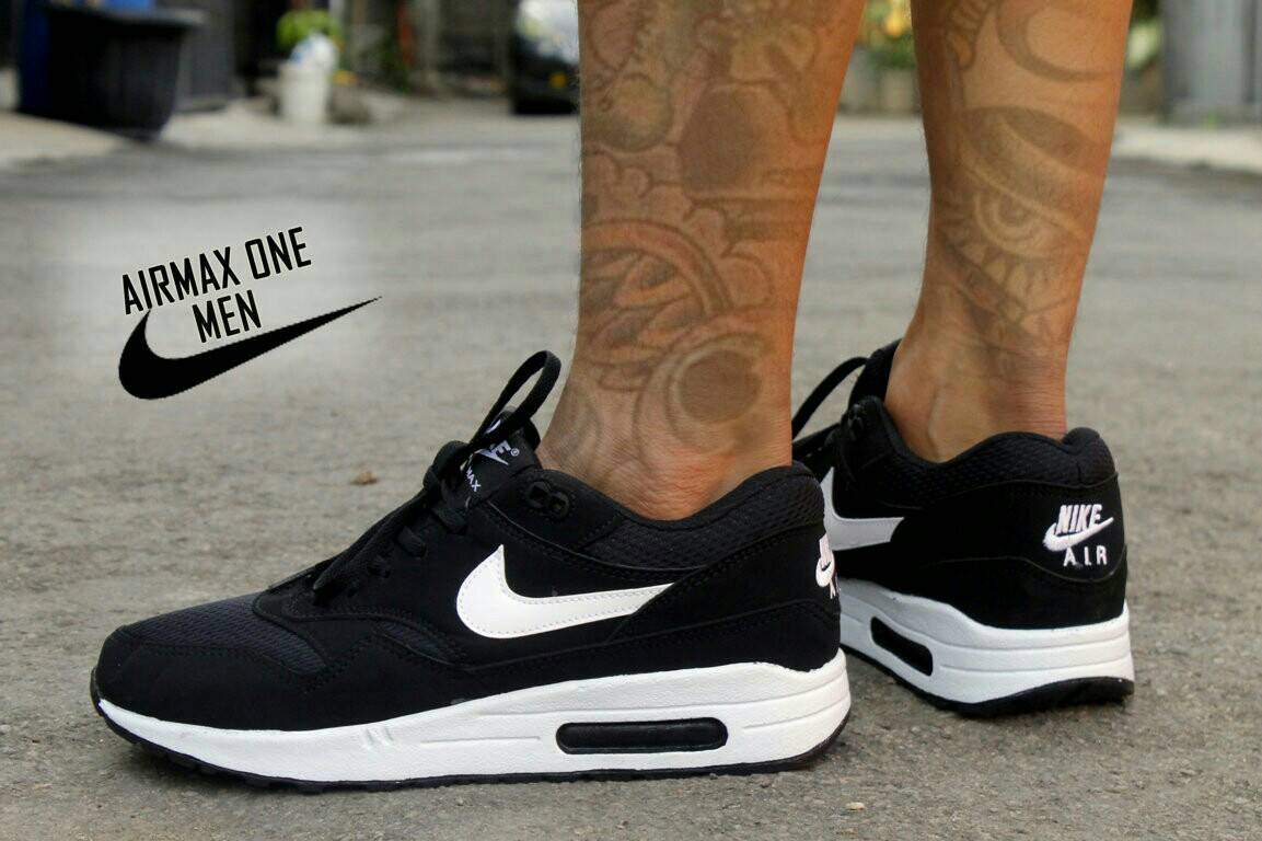 bacb525dab3875 ... low price jual sepatu nike airmax one hitam putih sport casual cowok lapak  sepatu sby tokopedia