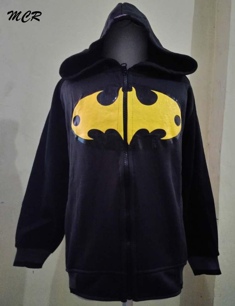 JKKDL42 - Jaket Anak Batman Logo Yellow Black (XXL)