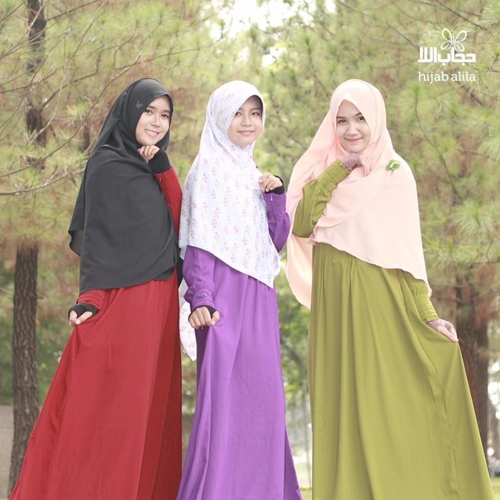 gamis syar'i polos by hijab alila