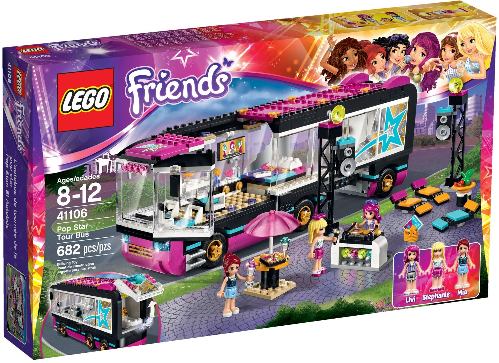LEGO 41106 - Friends - Pop Star Tour Bus