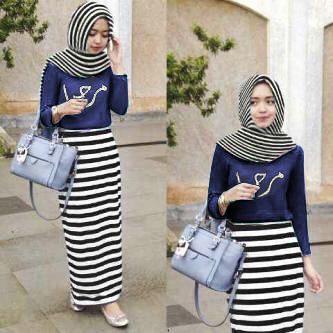 hijab arabian navy spdk fit L + + pasmina