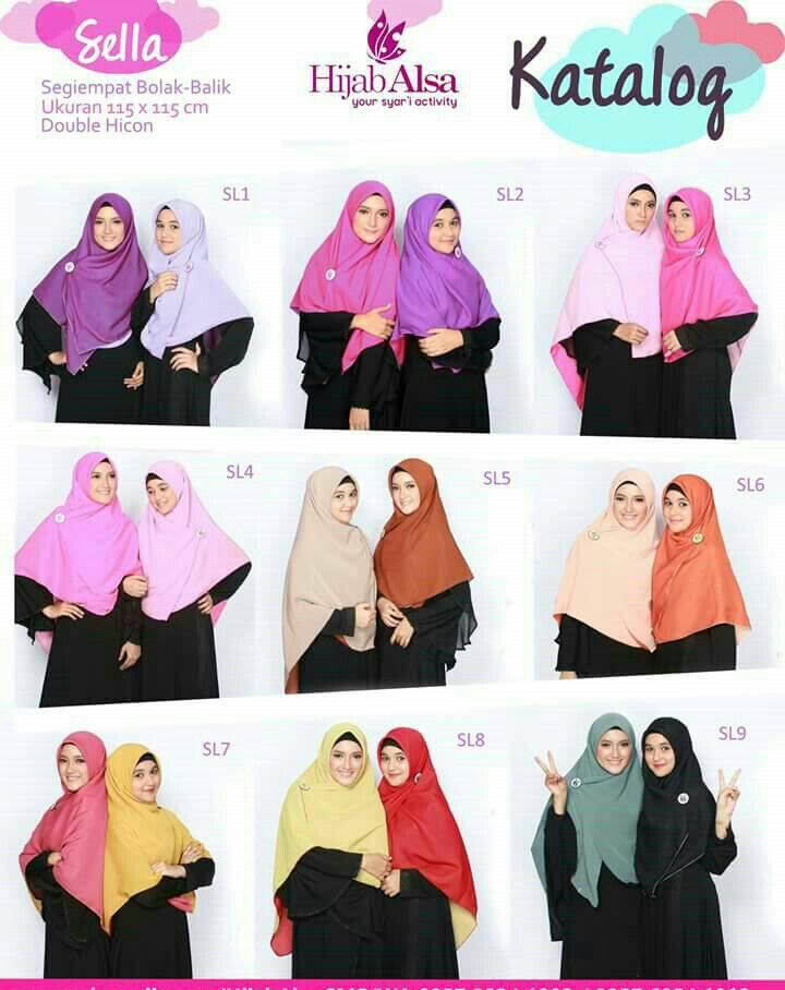 Hijab Alsa - Jilbab Segiempat Bolak Balik